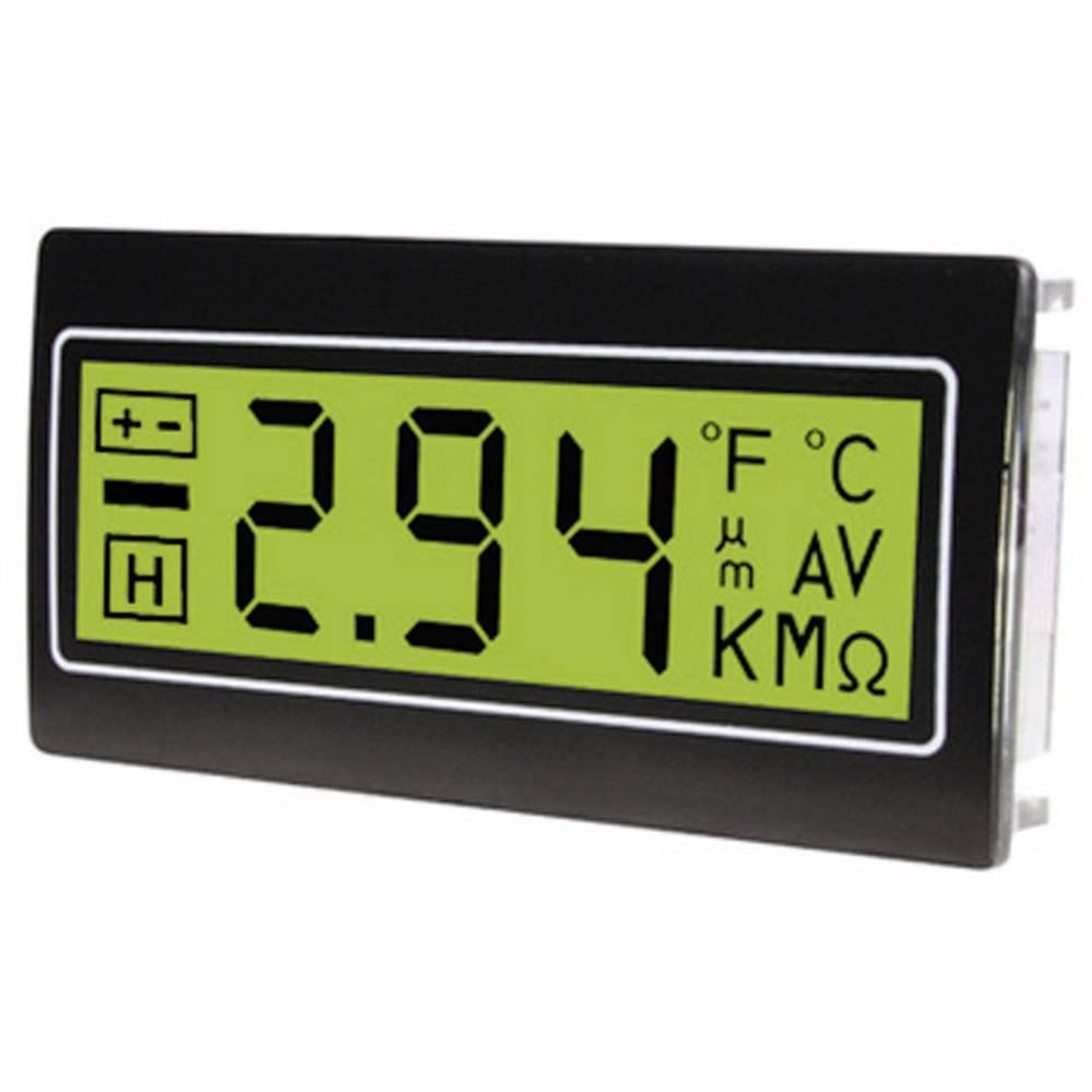 TDE Instruments DPM961-TG digitální panelový měřič Digitální multimetr pro zástavbu do panelu ± 200 mV