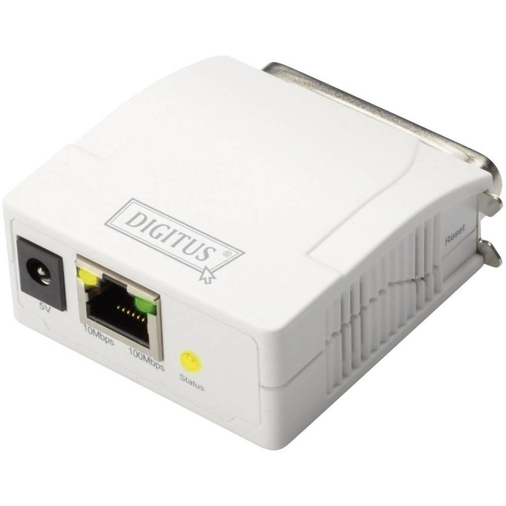 Digitus DN-13001-1 síťový print server LAN (až 100 Mbit/s), paralelní (IEEE 1284)