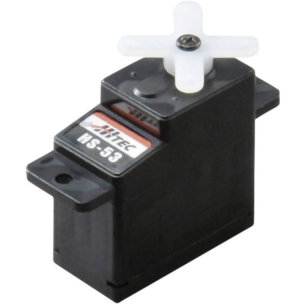 Hitec mini servo HS-53 analogové servo Materiál převodovky: plast Zásuvný systém: JR