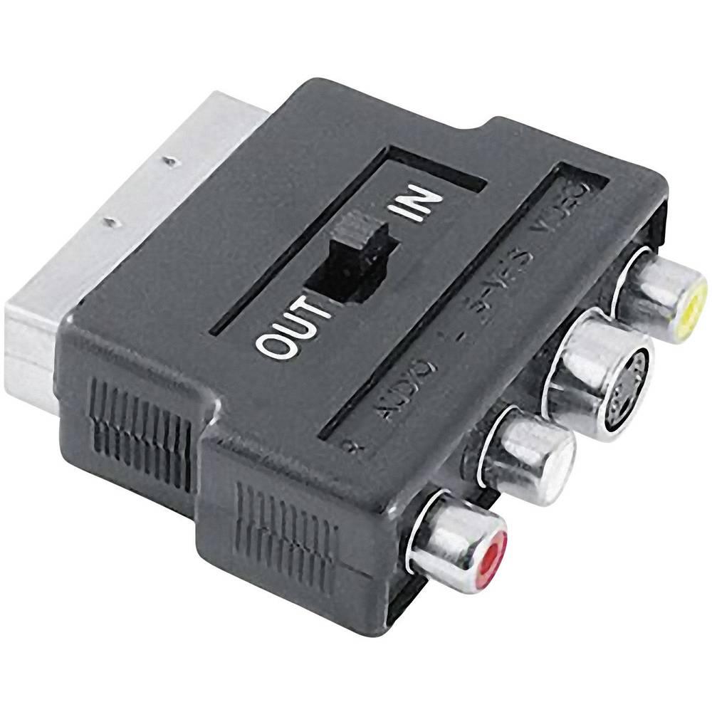 Hama SCART / kompozitní cinch / S-video AV adaptér [1x SCART zástrčka - 3x cinch zásuvka, S-Video zásuvka] černá