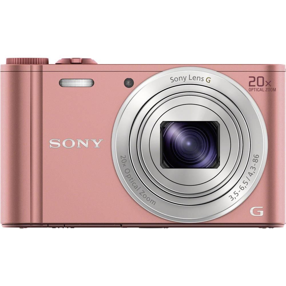 Sony Cyber-Shot DSC-WX350P digitální fotoaparát 18.2 MPix Zoom (optický): 20 x růžová Full HD videozáznam, Wi-Fi