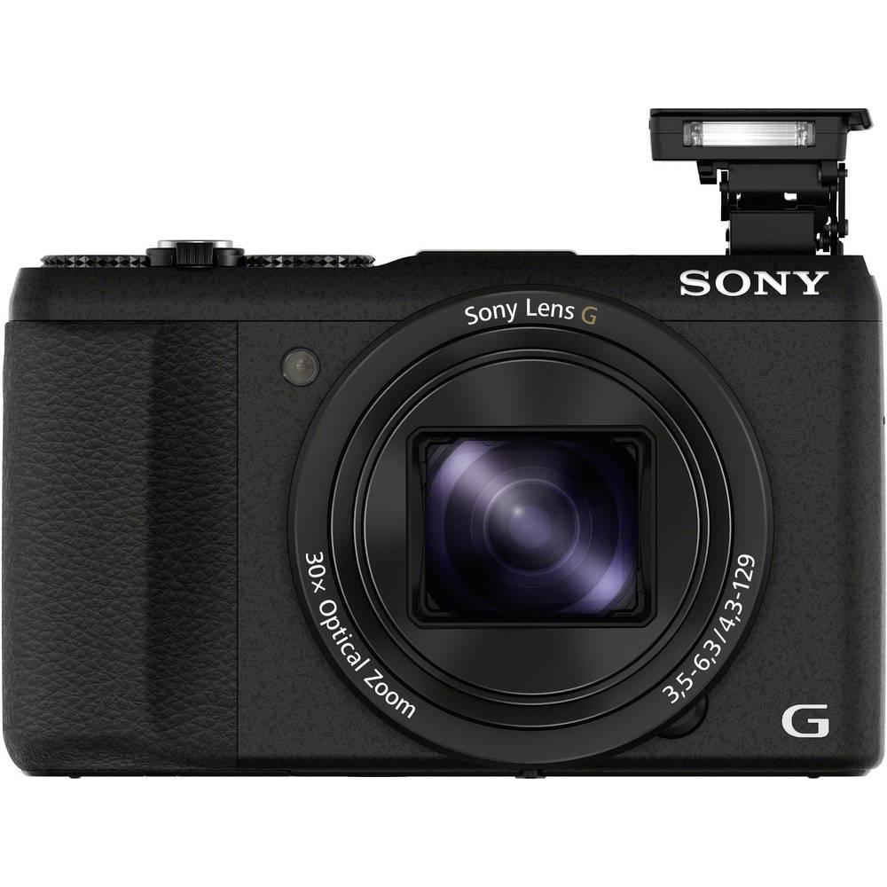 Sony DSC-HX60B digitální fotoaparát 20.4 MPix Zoom (optický): 30 x černá Full HD videozáznam, Wi-Fi, patice na blesk