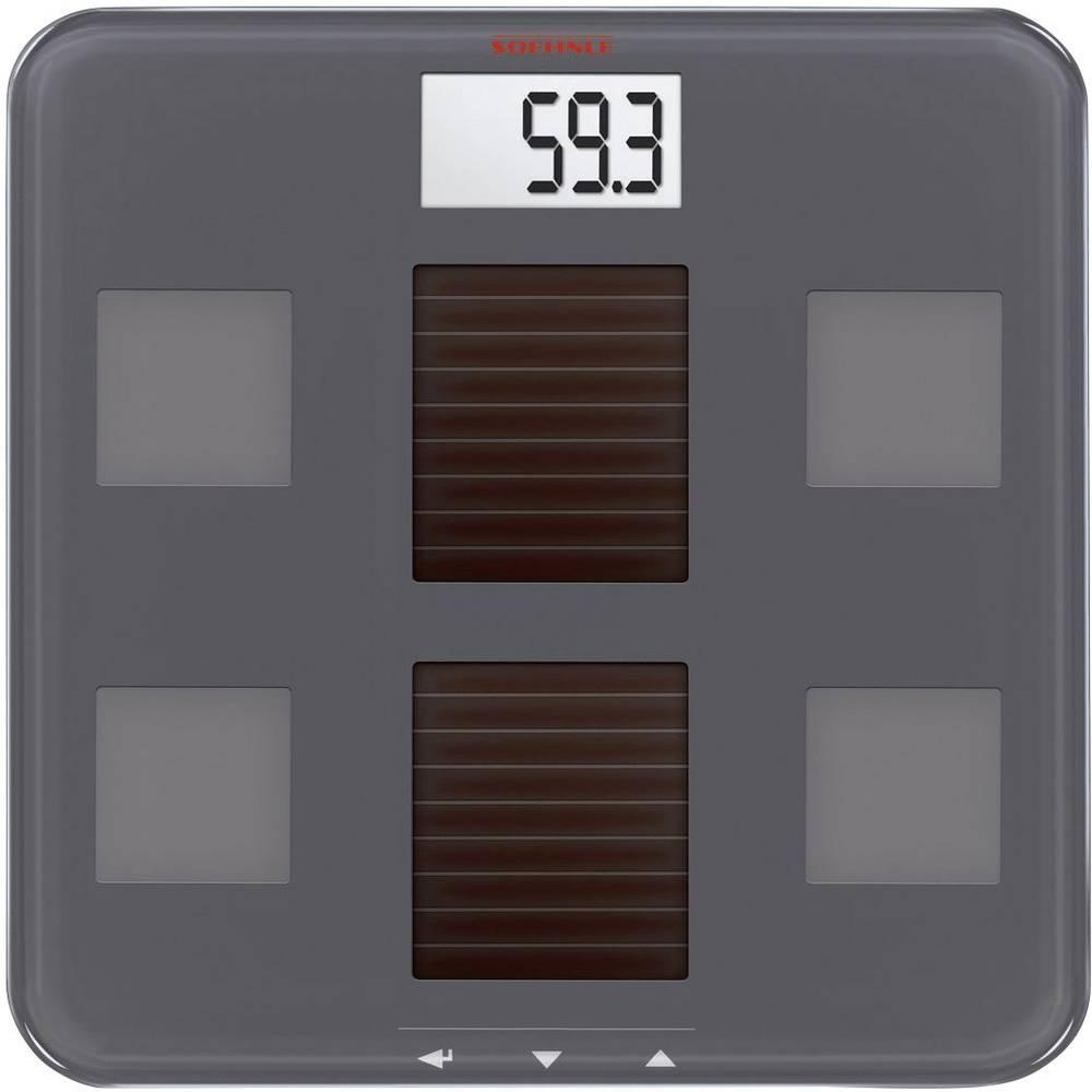 Soehnle Solar Fit digitální osobní váha Max. váživost=150 kg šedá Se solárními články
