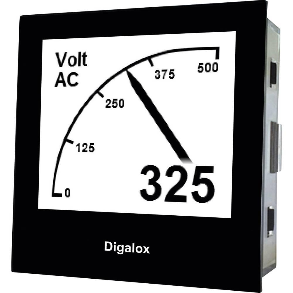 TDE Instruments Digalox DPM72-AV digitální panelový měřič Grafický DIN měřicí přístroj TDE Instruments Digalox DPM72-AV