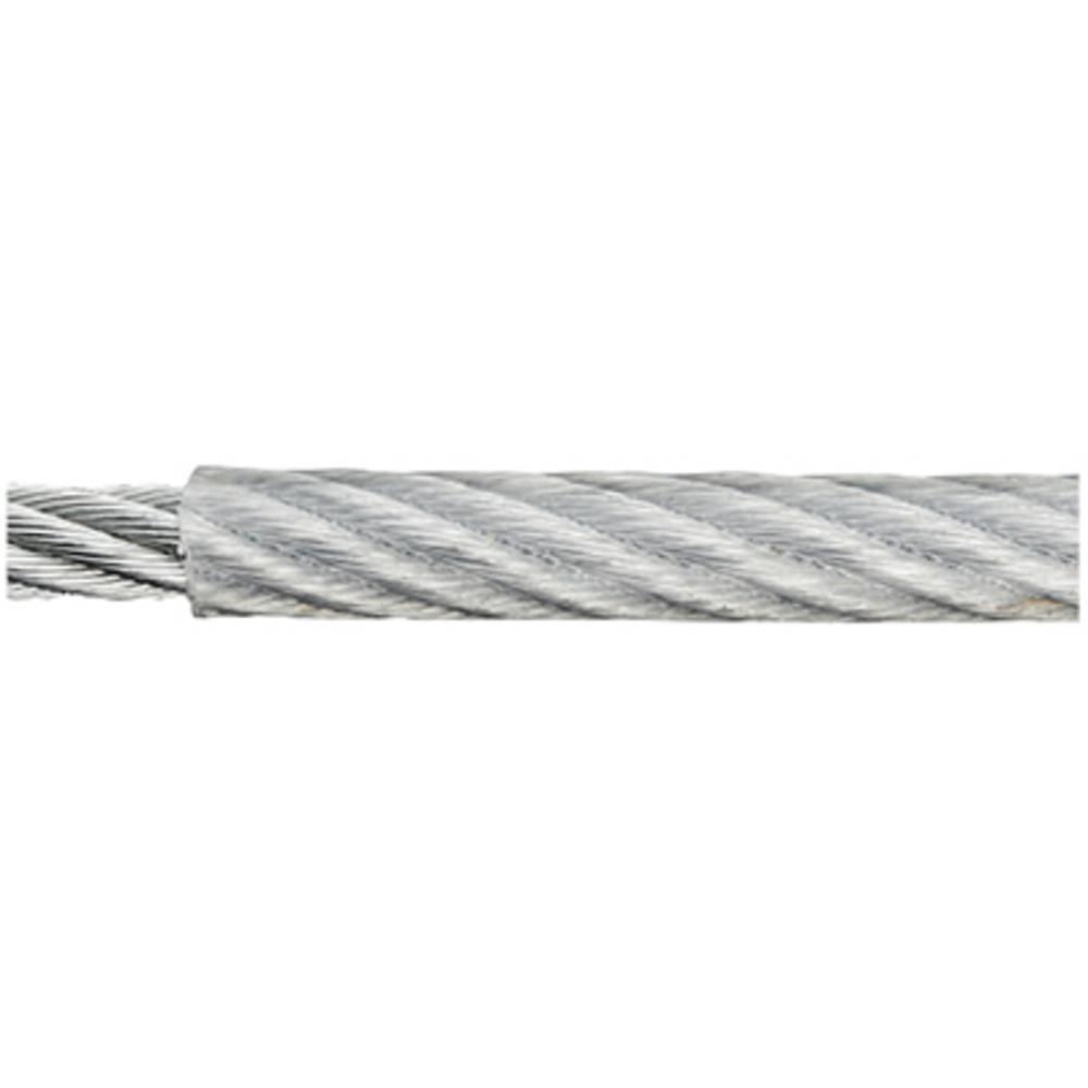 ocelové lano pozinkované (Ø x d) 4 mm x 50 m dörner + helmer 190040 šedá