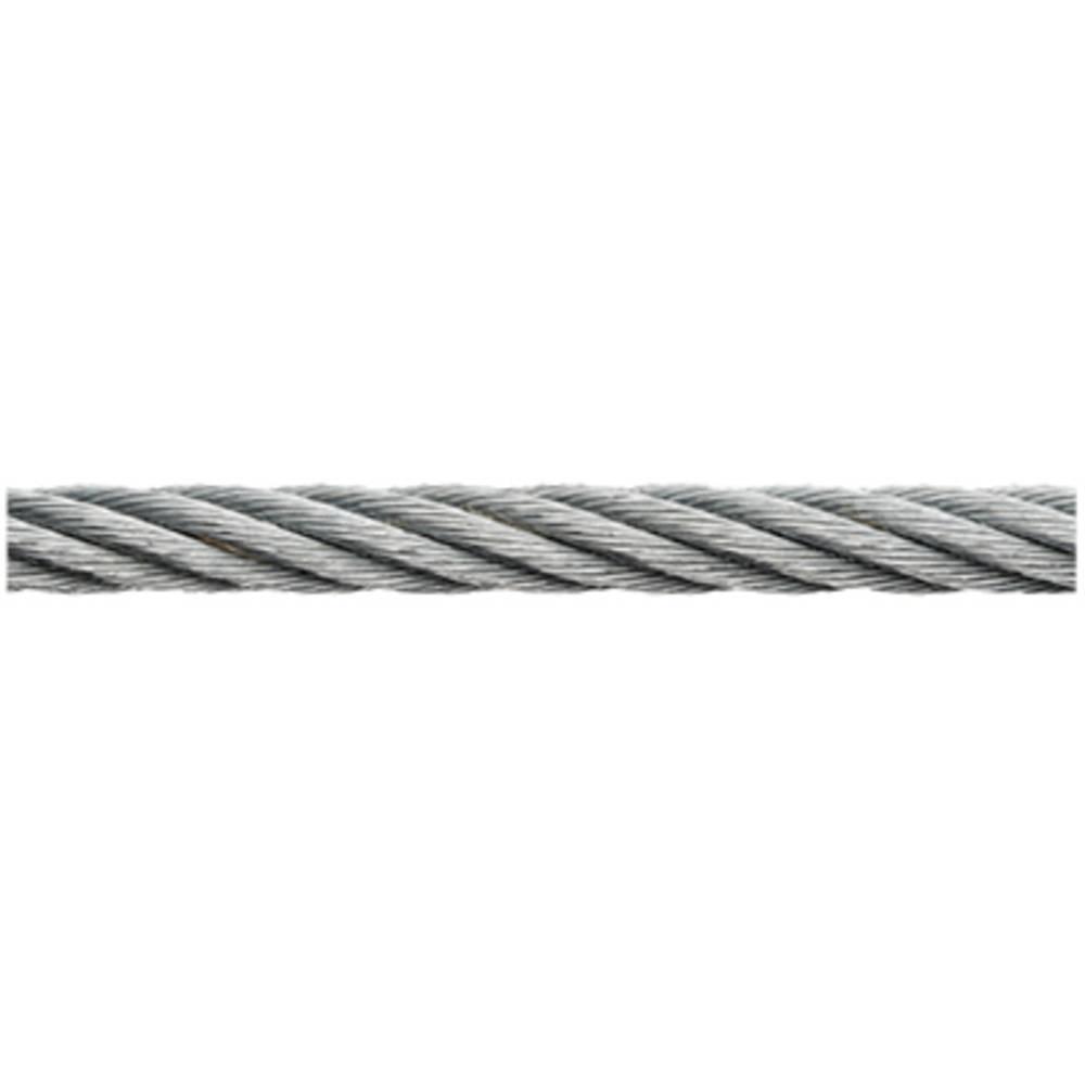 ocelové lano pozinkované (Ø x d) 3 mm x 500 m dörner + helmer 190053 šedá