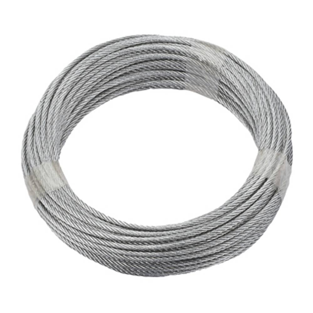 ocelové lano pozinkované (Ø x d) 5 mm x 10 m dörner + helmer 190383 šedá