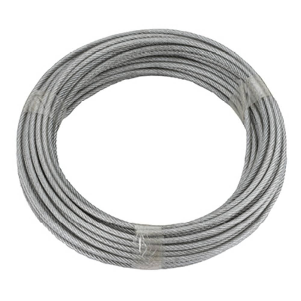 ocelové lano pozinkované (Ø x d) 5 mm x 20 m dörner + helmer 190385 šedá