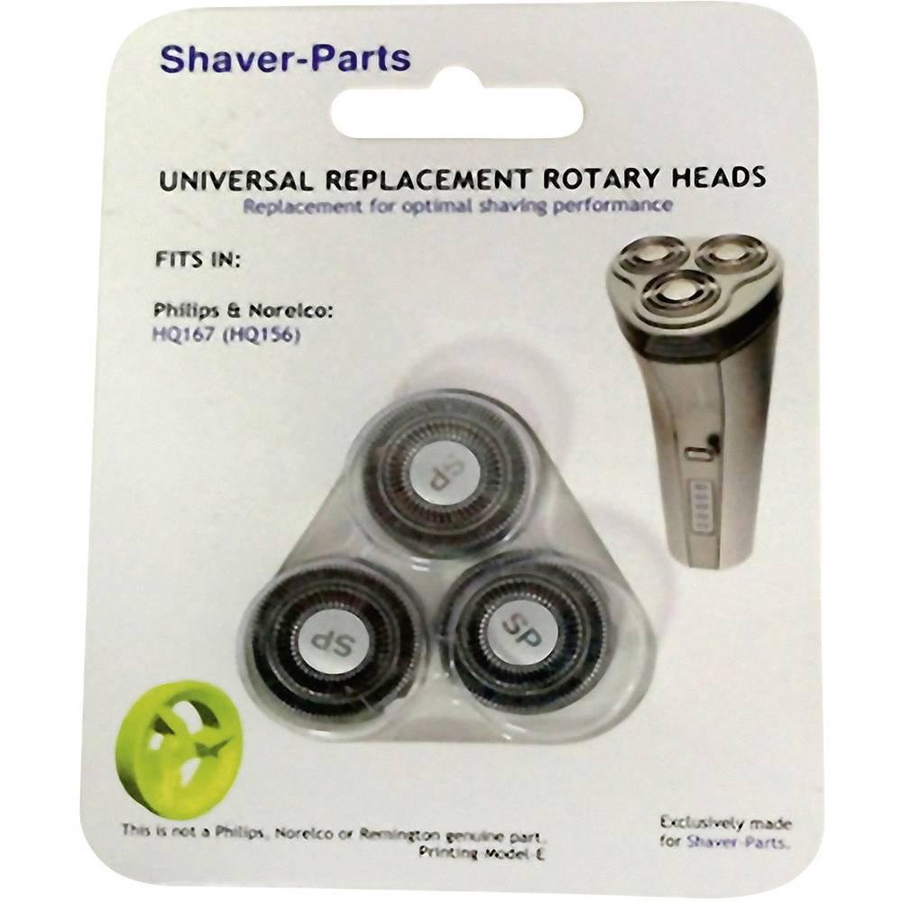 Shaver-Parts für Philips HQ 167, HQ 156 holicí hlava černá 1 sada