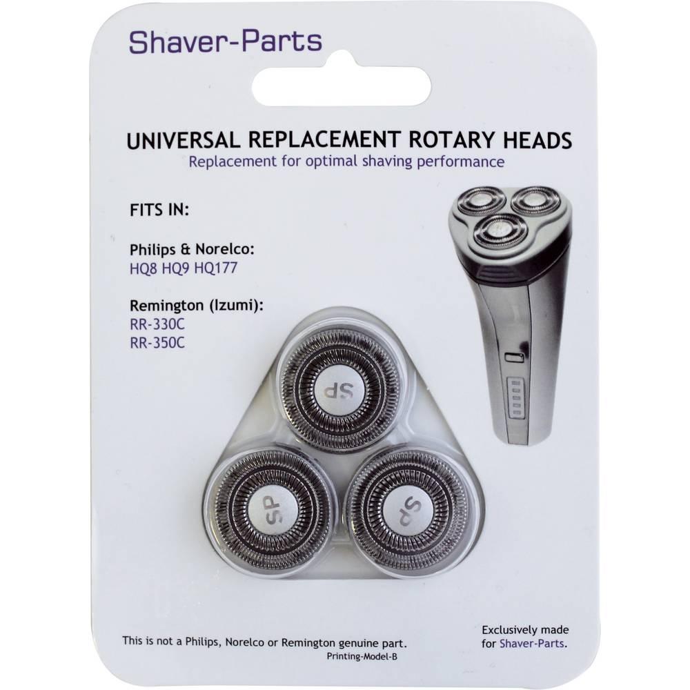 für Philips HQ8, HQ9, HQ177 und Remington RR-330C, RR-350C holicí hlava černá 1 sada