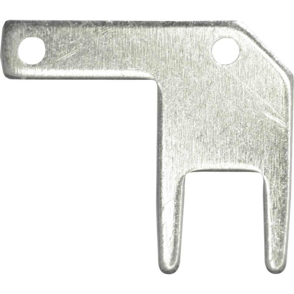 Vogt Verbindungstechnik 378705.68 faston zástrčka Šířka zástrčky: 2.8 mm Tloušťka konektoru: 0.5 mm 90 ° bez izolace kov 100 ks