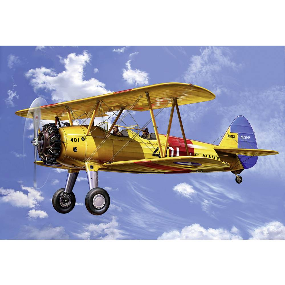 Revell 04676 Stearman Kaydet model letadla, stavebnice 1:72
