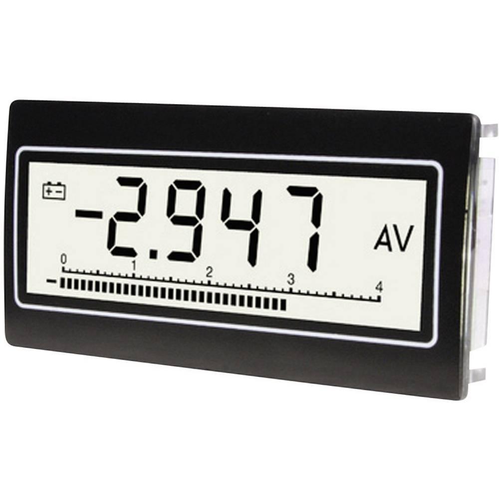 TDE Instruments DPM802-TW digitální panelový měřič Vestavný přístroj s voltmetrem a ampérmetrem DPM802-TW Napětí: 0,1 mV - 300 V/DC/AC · Proud: 0,1 µA až 10 A/DC/AC