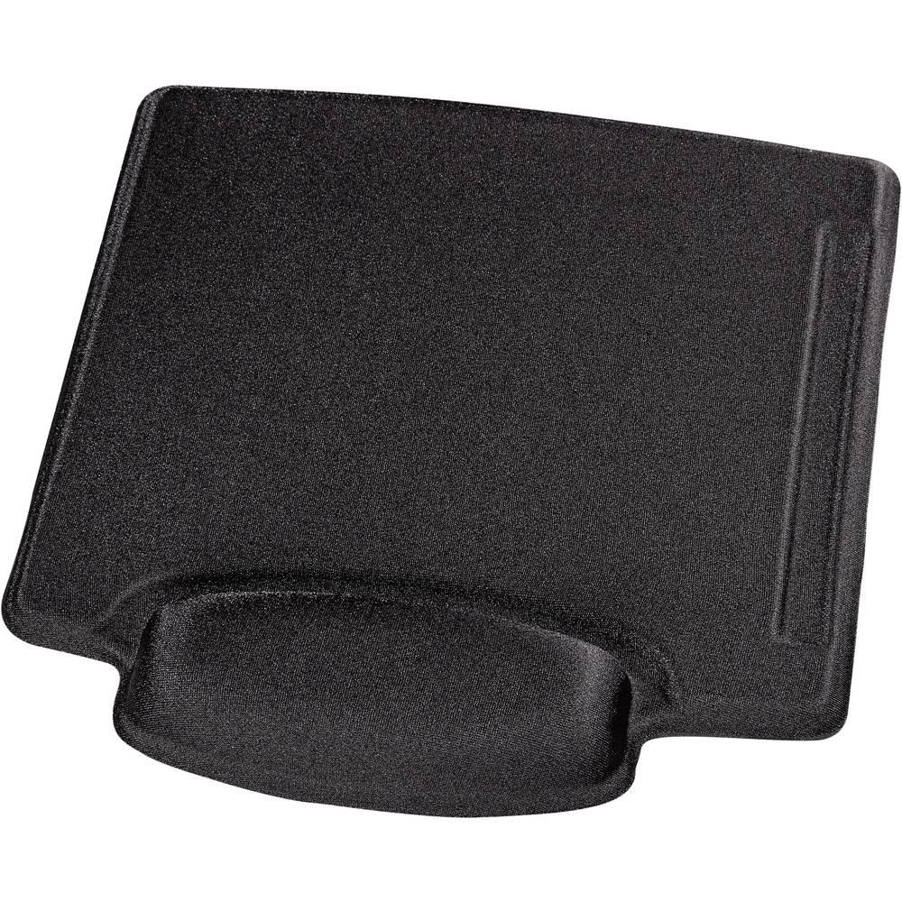 Hama 00054782 podložka pod myš s opěrkou pod zápěstí ergonomická černá (š x v x h) 229 x 22 x 218 mm