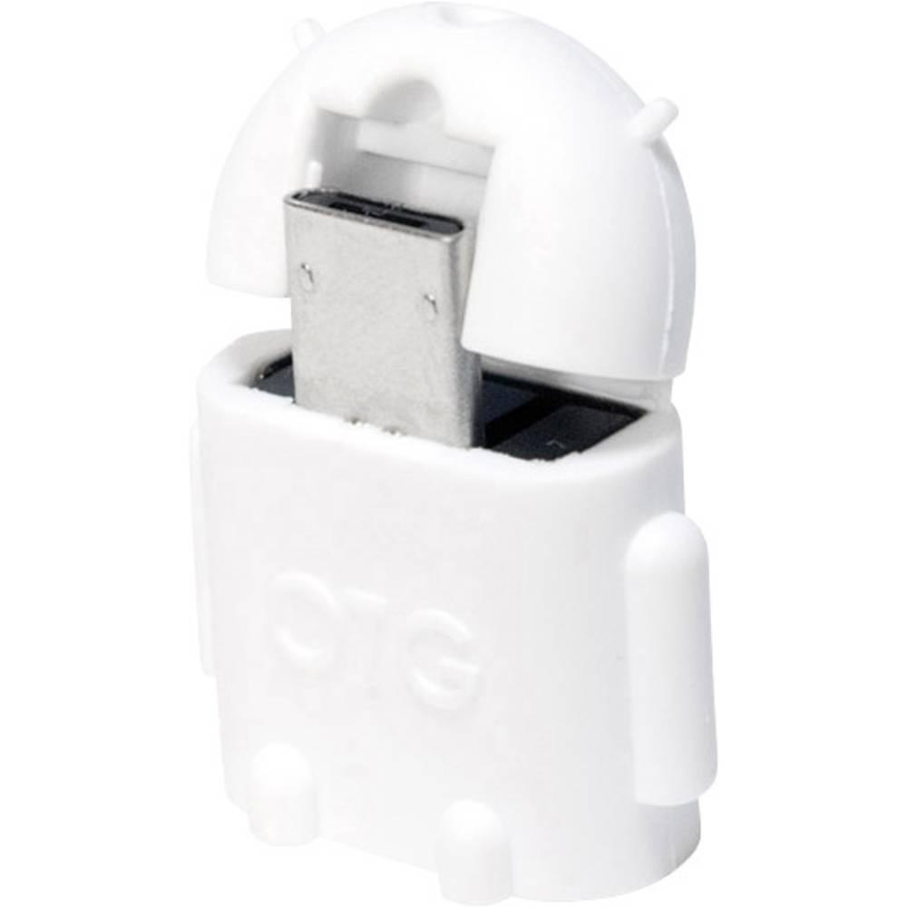 LogiLink USB 2.0 adaptér [1x micro USB 2.0 zástrčka B - 1x USB 2.0 zásuvka A] AA0063 s funkcí OTG
