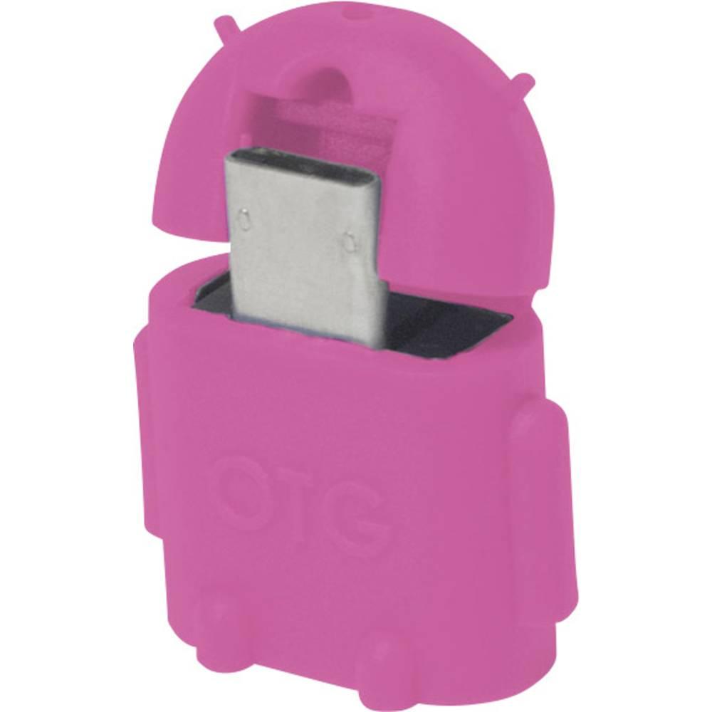 LogiLink USB 2.0 adaptér [1x micro USB 2.0 zástrčka B - 1x USB 2.0 zásuvka A] AA0065 s funkcí OTG