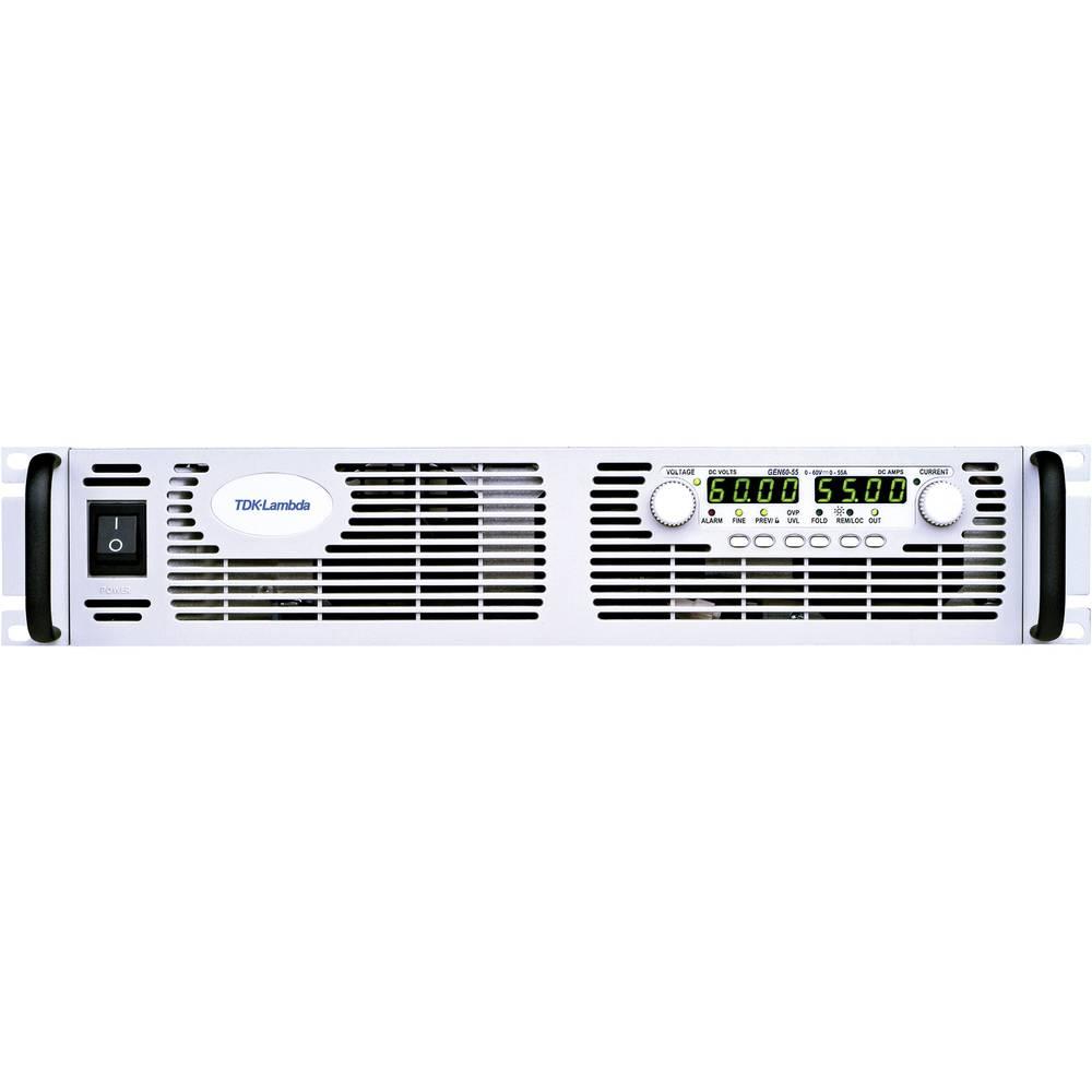 laboratorní zdroj s nastavitelným napětím TDK-Lambda GEN-30-110-3P400/F 0 - 30 V/DC 0 - 110 A 3300 W Počet výstupů 1 x RS-232, RS-485 funkce Master/Slave, lze programovat, lze dálkově ovládat