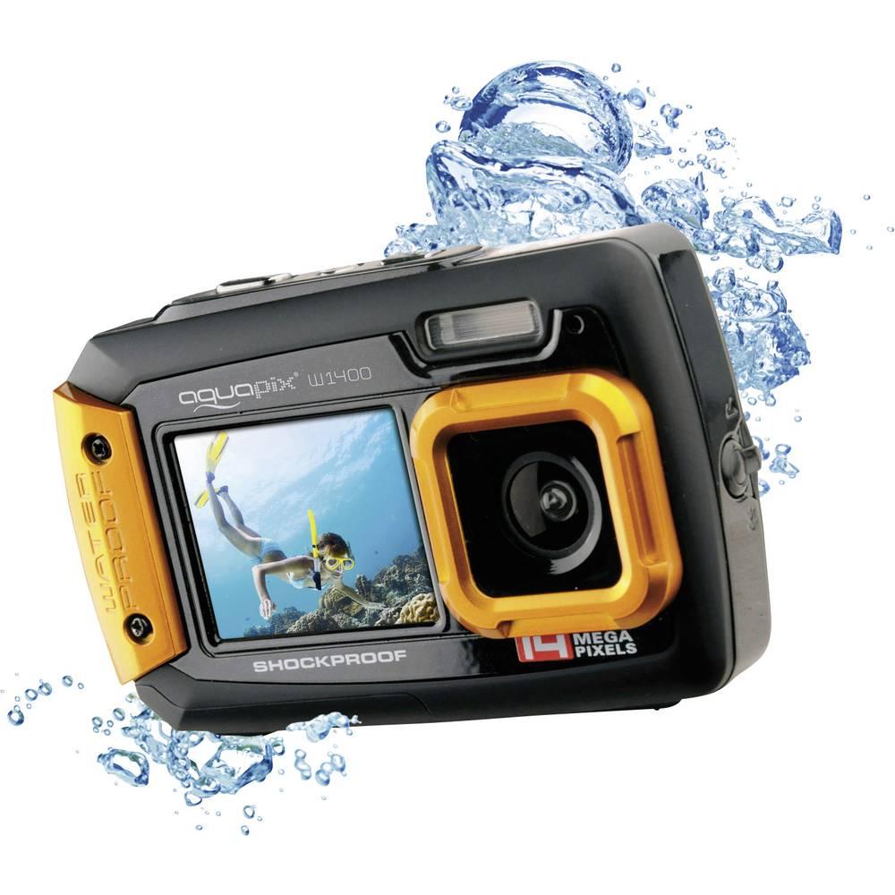 Easypix W-1400 digitální fotoaparát 14 Megapixel černá, oranžová prachotěsný, voděodolný, přední displej