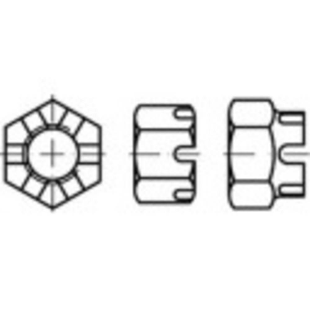 TOOLCRAFT 132138 matice korunkové M14 DIN 935 ocel 50 ks