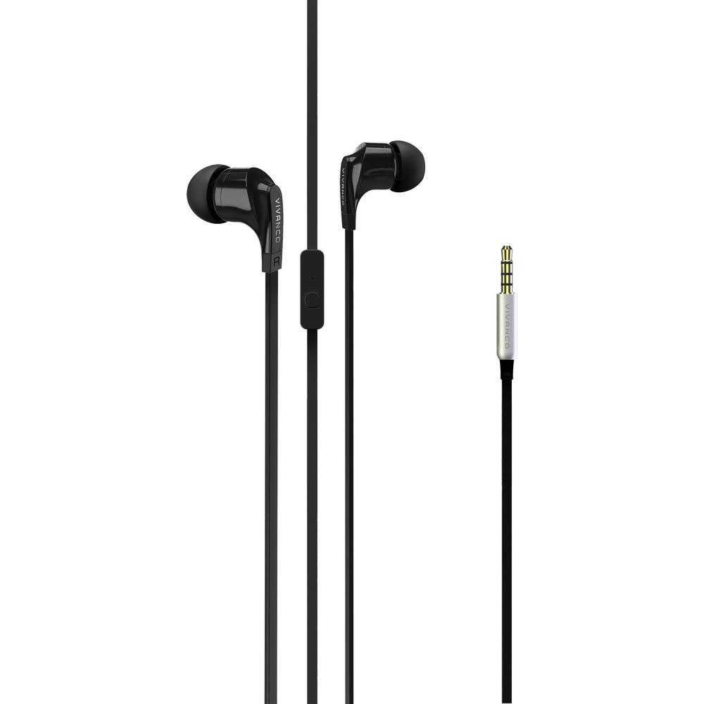 Vivanco Talk 4 špuntová sluchátka do uší headset černá