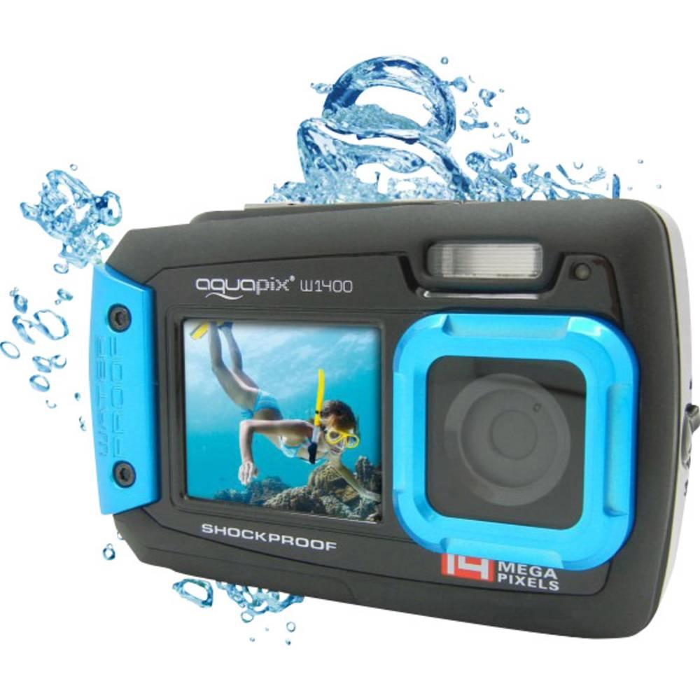 Easypix W-1400 digitální fotoaparát 14 Megapixel černá, modrá prachotěsný, voděodolný, přední displej