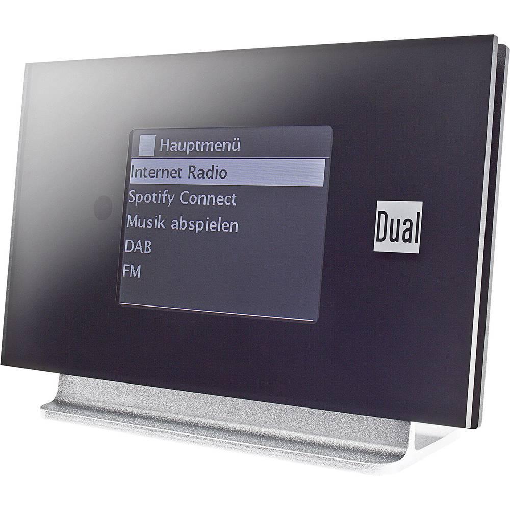 Dual IR 3A adaptér internetového rádia DAB+, FM Bluetooth, internetové rádio s DLNA, Spotify černá, stříbrná