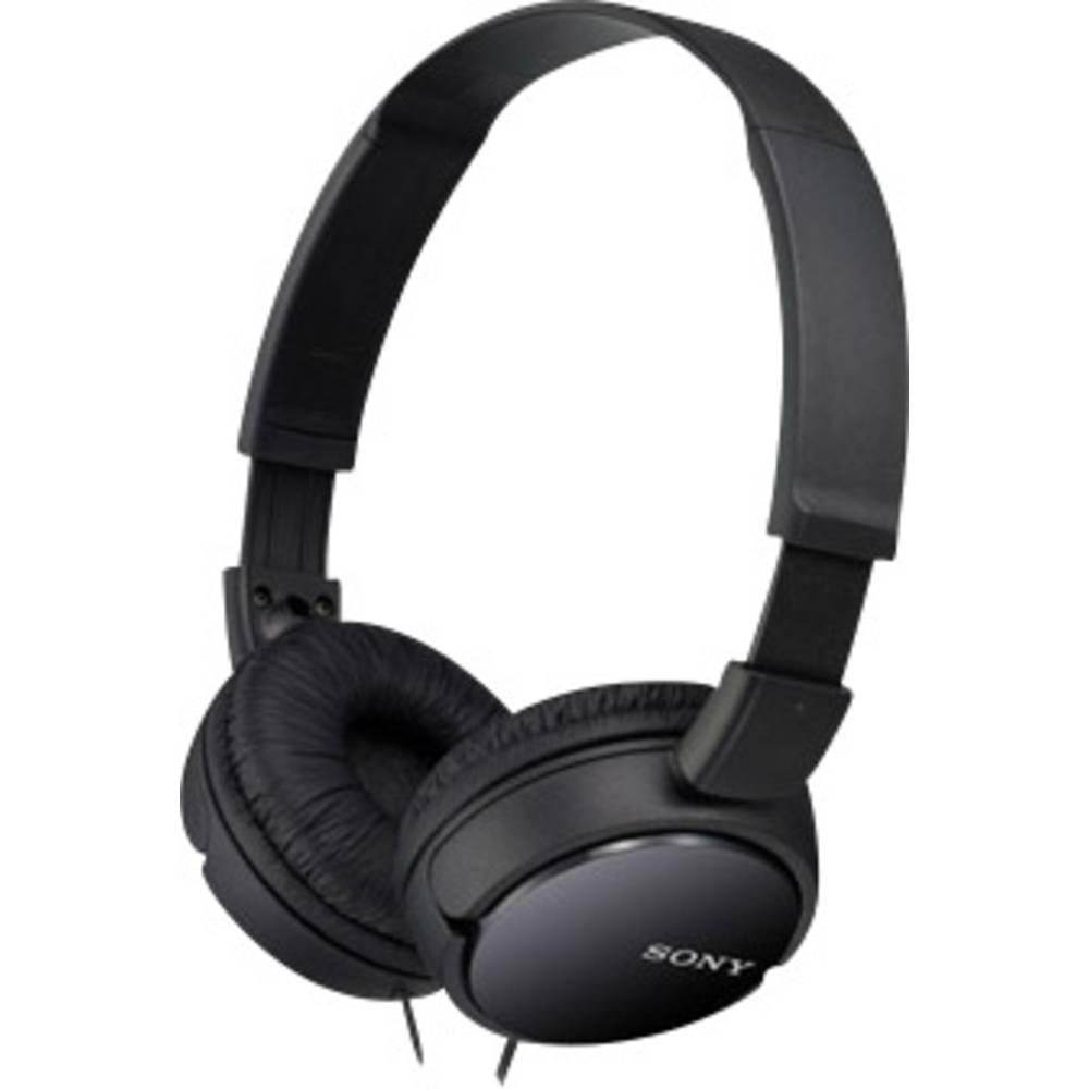 Sony MDR-ZX110AP sluchátka On Ear na uši složitelná, headset černá