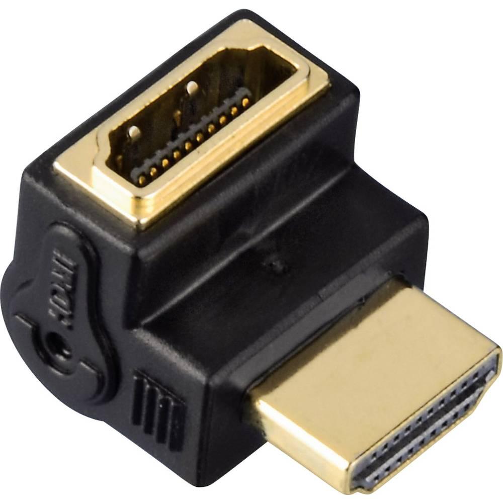 Hama 00083010 HDMI adaptér [1x HDMI zásuvka - 1x HDMI zástrčka] černá pozlacené kontakty