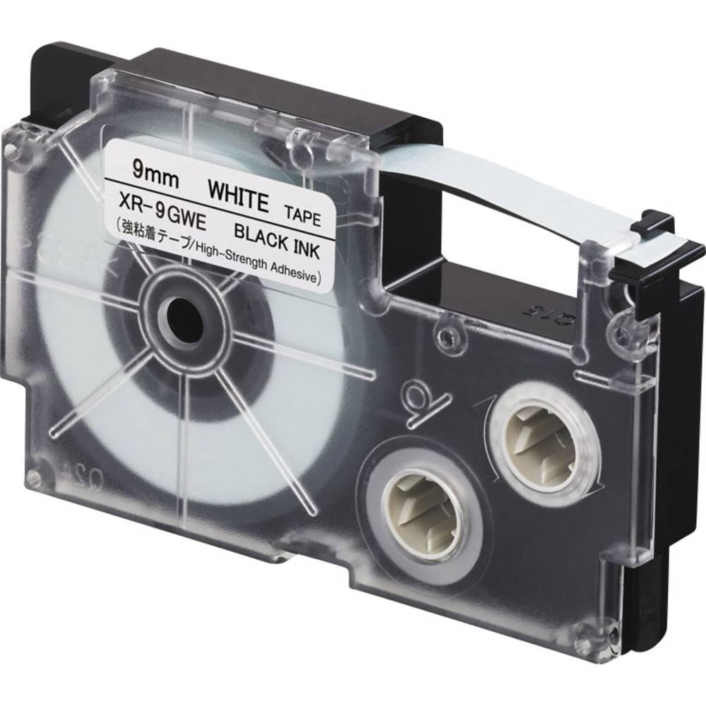 páska extra lepicí Casio XR XR-9GWE Barva pásky: bílá Barva písma:černá 9 mm 5.5 m