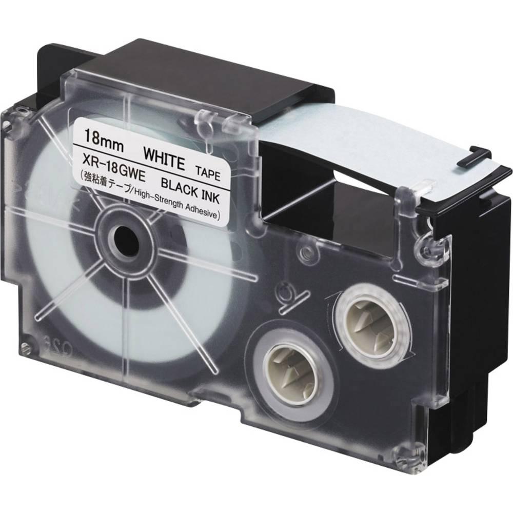 páska extra lepicí Casio XR XR-18GWE Barva pásky: bílá Barva písma:černá 18 mm 5.5 m