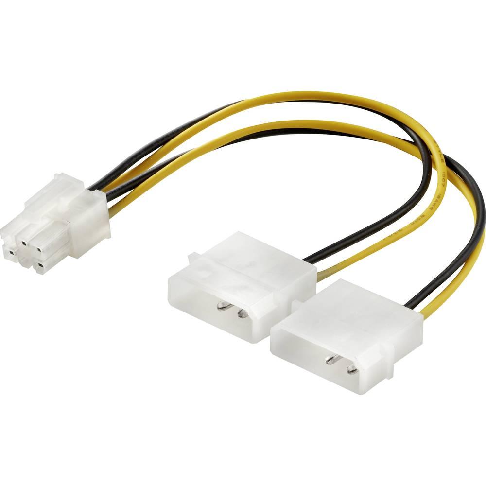 Renkforce napájecí Y kabel [1x ATX zástrčka 6pólová - 2x IDE proudová zástrčka 4pólová] 15.00 cm žlutá, černá