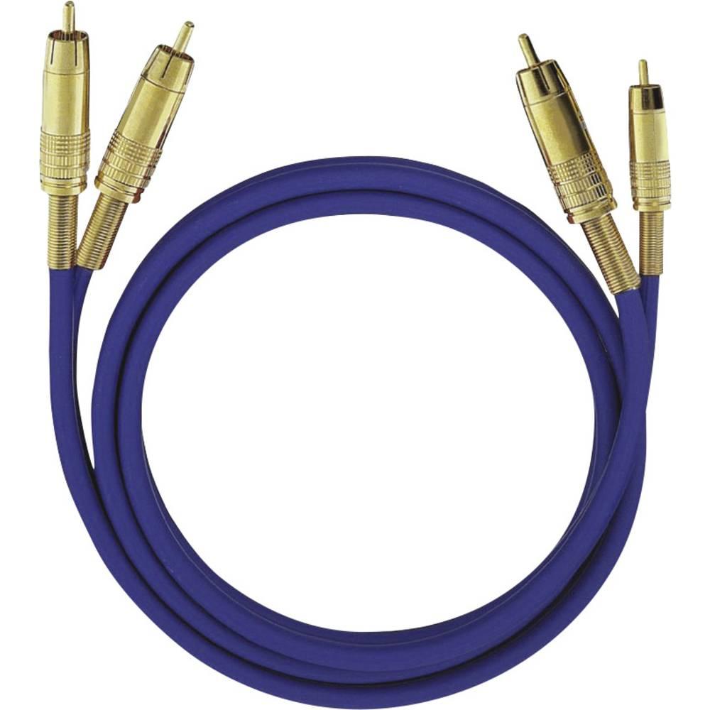 cinch audio kabel [2x cinch zástrčka - 2x cinch zástrčka] 10.00 m modrá pozlacené kontakty Oehlbach NF 1 Master