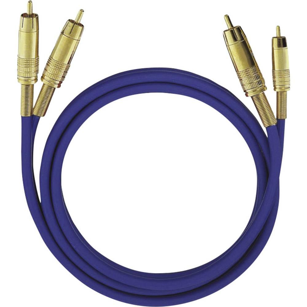 cinch audio kabel [2x cinch zástrčka - 2x cinch zástrčka] 2.00 m modrá pozlacené kontakty Oehlbach NF 1 Master