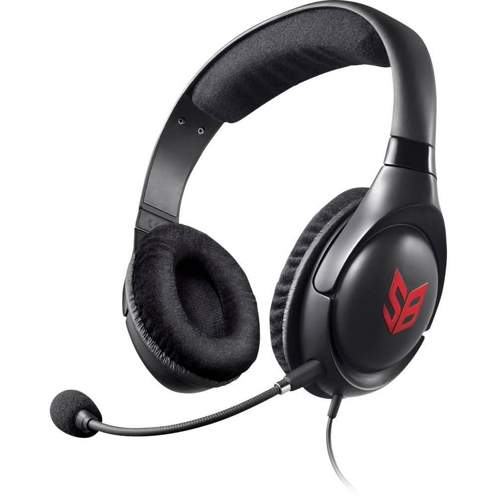 Creative Sound Blaster Blaze herní headset jack 3,5 mm na kabel, stereo přes uši černá, červená