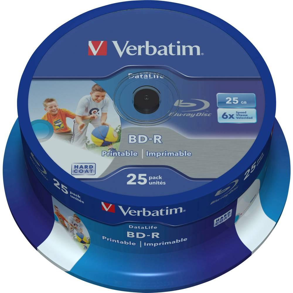 Verbatim 43811 Blu-ray BD-R SL 25 GB 25 ks vřeteno s potiskem, vrstva proti poškrábání