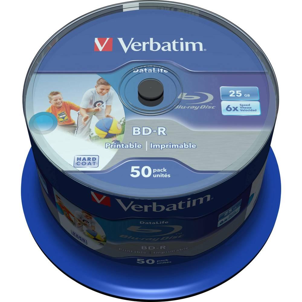 Verbatim 43812 Blu-ray BD-R SL 25 GB 50 ks vřeteno s potiskem