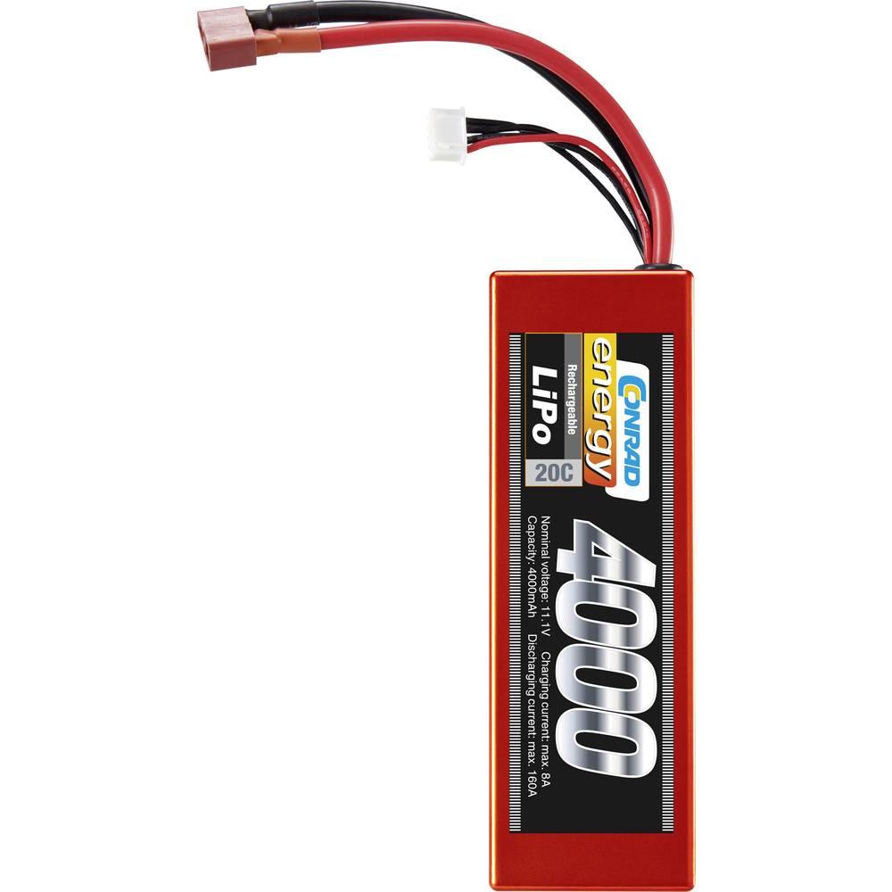 Conrad energy akupack Li-Pol (modelářství) 11.1 V 4000 mAh Počet článků: 3 20 C Box Hardcase T zásuvka