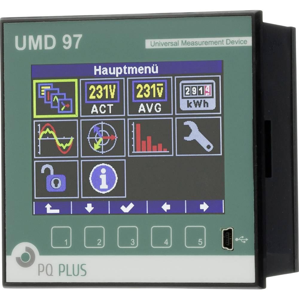 PQ Plus UMD 97E digitální panelový měřič Univerzální měřič UMD 97E - montáž na rozvodný panel - Ethernet - RS485 - paměť 512 MB