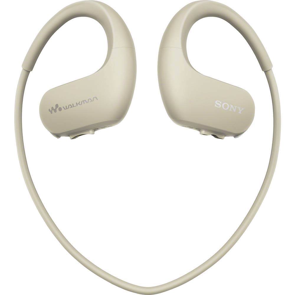 Sony NW-WS413C sportovní špuntová sluchátka do uší MP3 přehrávač, za uši, voděodolná krémová