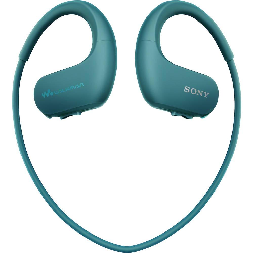 Sony NW-WS413L sportovní špuntová sluchátka do uší MP3 přehrávač, za uši, voděodolná modrá