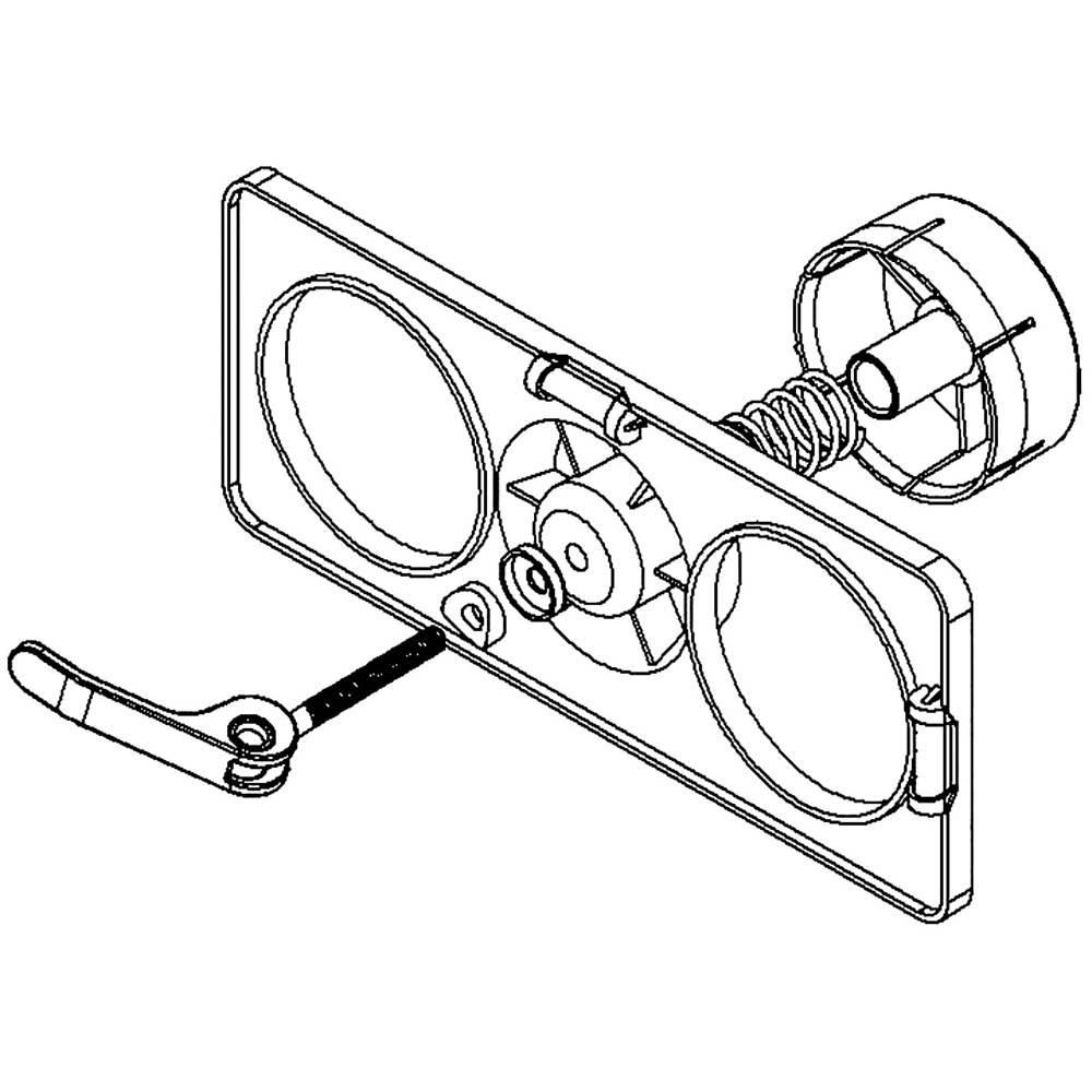 PRIMO P102 šablona pro vrtání otvorů pro krabice do dutých stěn 1 ks
