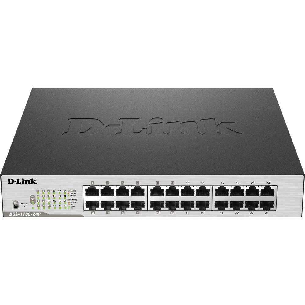 D-Link DGS-1100-24P síťový switch 24 portů 1 GBit/s funkce PoE
