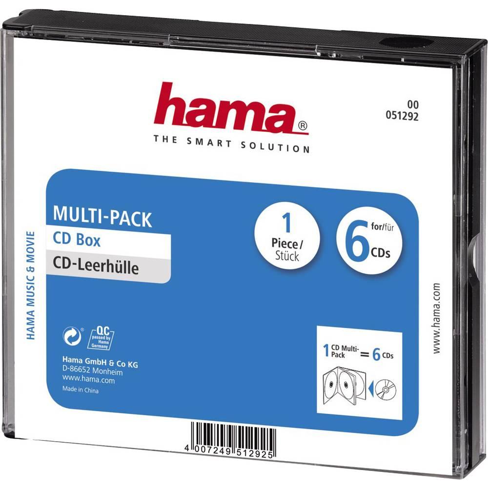Hama 6násobná obal na CD 6 CD/DVD/Blu-ray polystyrol černá 1 ks (š x v x h) 142 x 125 x 24 mm 00051292