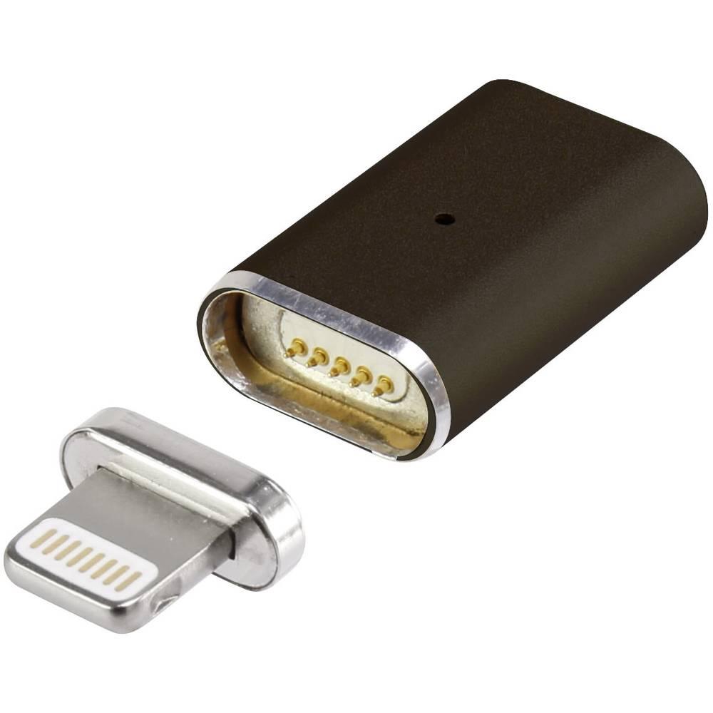 Renkforce iPad/iPhone/iPod datový kabel/nabíjecí kabel [1x dokovací zástrčka Apple Lightning - 1x zásuvka Apple Lightning] černá