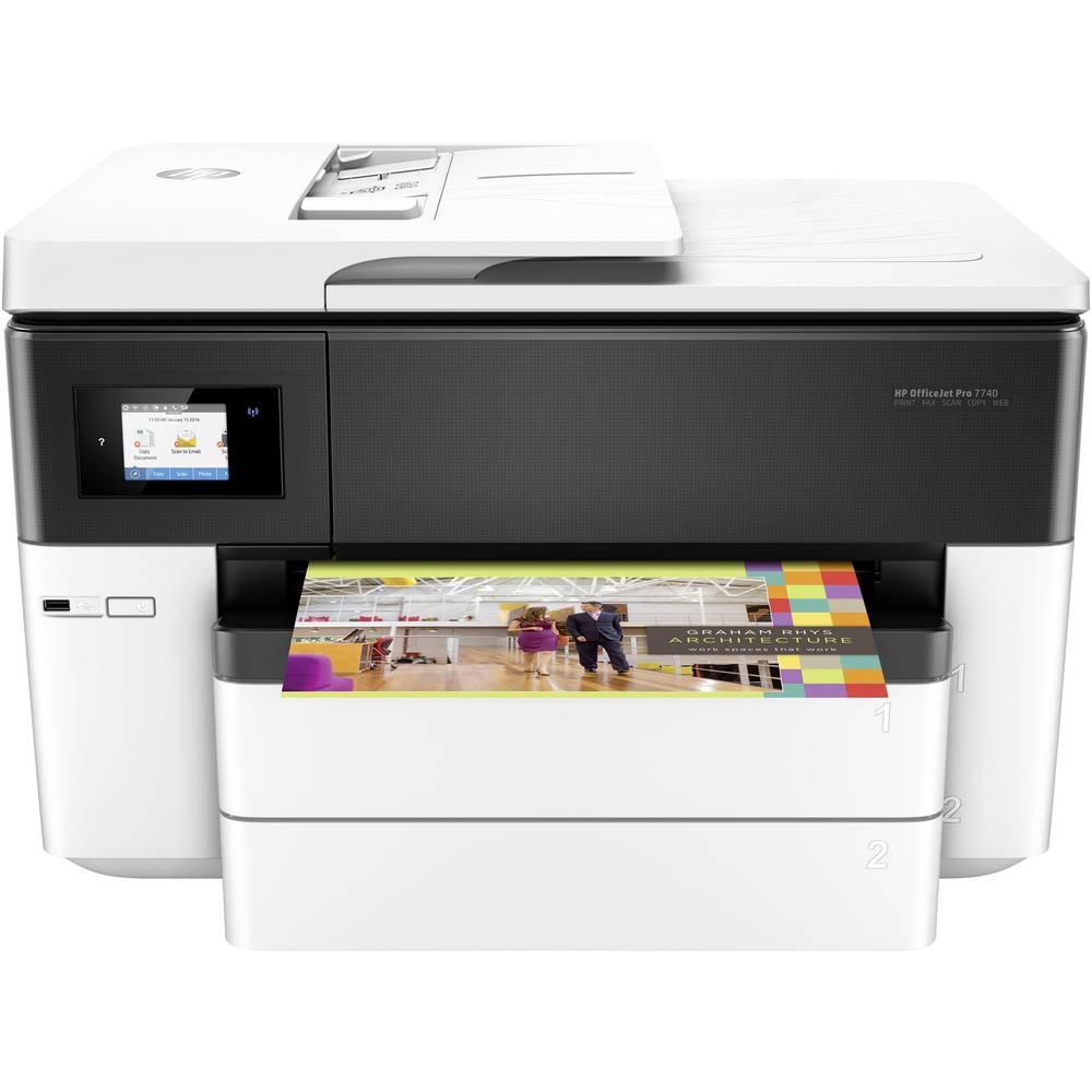 HP OfficeJet Pro 7740 Wide Format All-in-One barevná inkoustová multifunkční tiskárna A3 tiskárna, skener, kopírka, fax Wi-Fi, duplexní, duplexní ADF