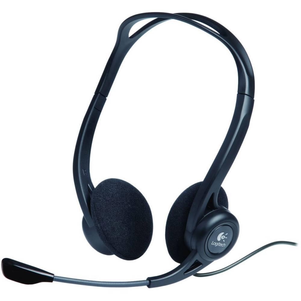 Logitech PC 960 headset k PC s USB stereo na uši černá