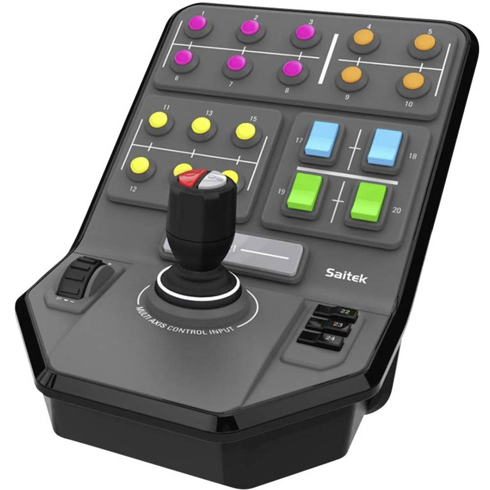 Logitech Gaming Saitek Farm Sim Vehicle Side Panel ovládací pult USB PC šedá