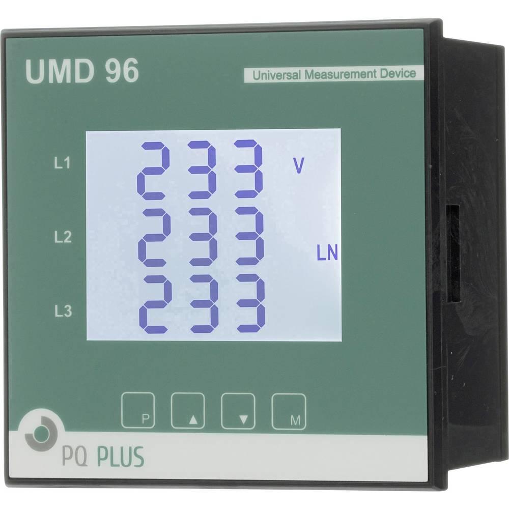 PQ Plus UMD 96M digitální panelový měřič Univerzální měřicí přístroj - montáž do panelu - UMD série M-Bus