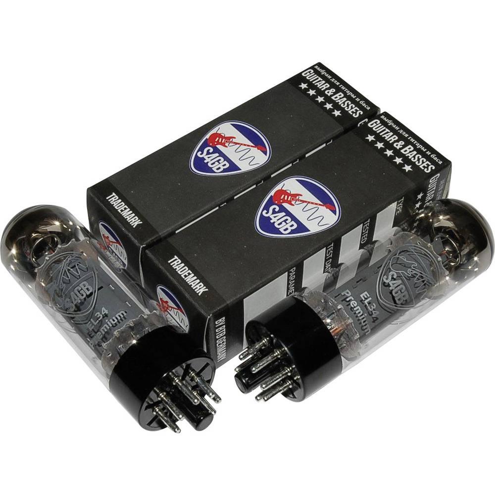 EL34 S4GB Premium párovaná dvojice elektronek Vybráno pro kytara & basy výstupní pentoda Pólů: 8 Typ patice: Oktal Množství 2 ks