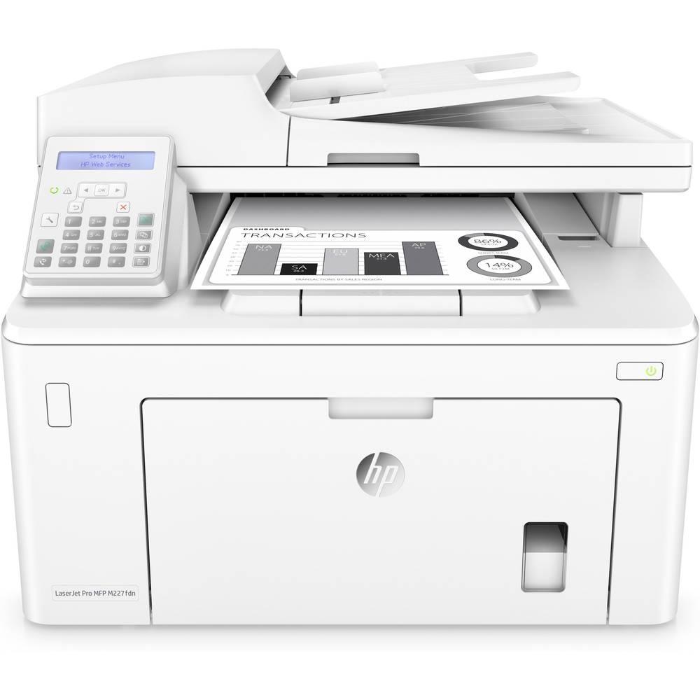 HP LaserJet Pro MFP M227fdn laserová multifunkční tiskárna A4 tiskárna, skener, kopírka, fax LAN, ADF